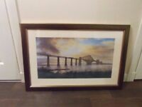 Large framed forth rail bridge print