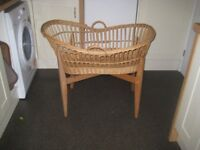Vintage Wicker baby crib