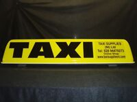 NEW Retro-Fit Taxi Roof Sign Cover/Canopy complete with lettering Front and Rear of sign