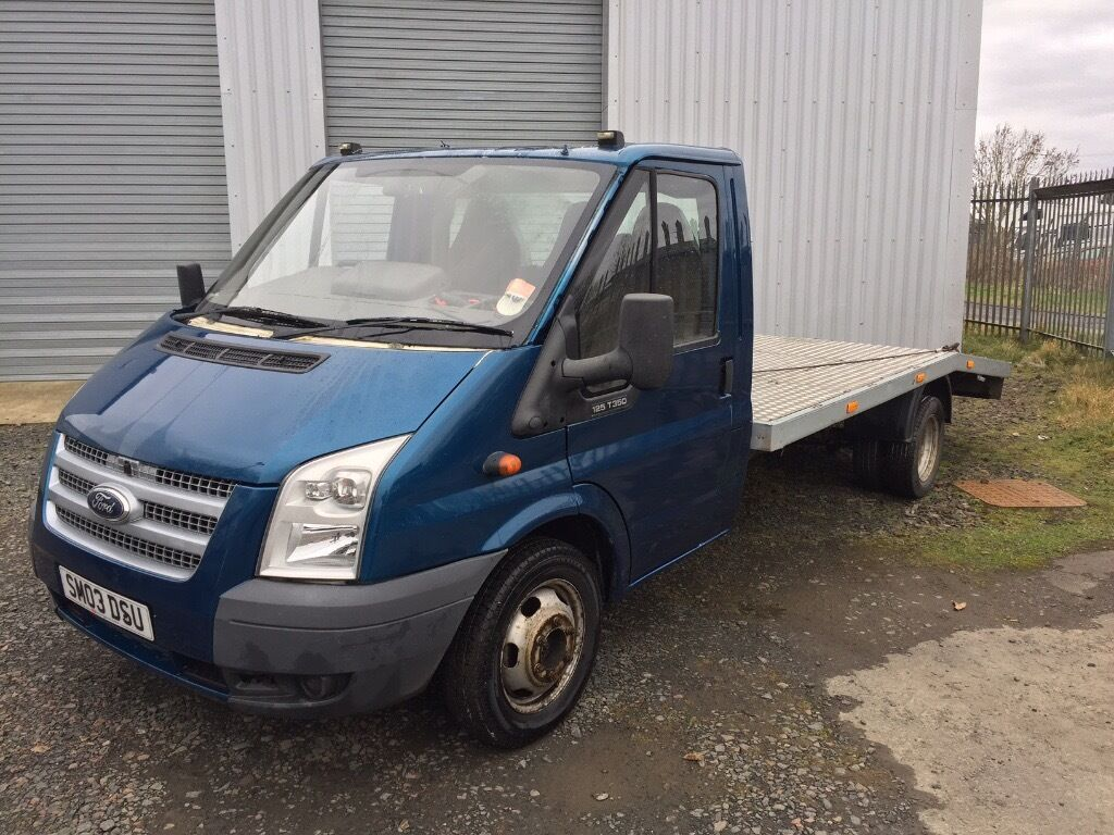 Ford transit 125 t350 flat bed recovery truck facelift years mot