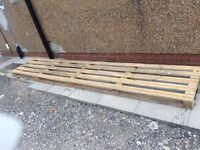 Wooden pallet 4m long