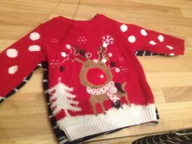 Christmas jumpers 6-9 months