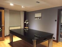 The FUSION POOL DINER TABLE with GLASS DINING TOPS