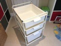 Ikea 3 Storage Units with Frame