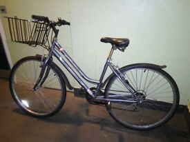 Professional Premium Womens 700c Hybrid Commuter Bike Bicycle; Frame Size: 18 inch, 6 Speed Grey