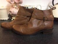 Fat face Brown ankle boots size 6