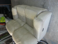 Two seater recliner leather sofa. Delivery.