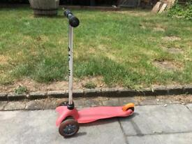 Micro Mini Scooter Pink 3-5 years