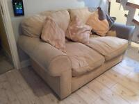 2 x Harvey's sofas with scatter cushions