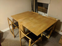 Folding Dining Table & 4 Chairs