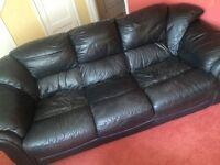 4 piece leather sofa set