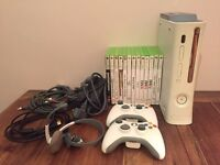 Xbox 360 60GB with 2 wireless controllers and 13 games - £50