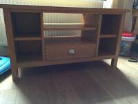Solid wood/oak corner TV cabinet