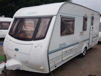 2001 Coachman Amara 520 4 Berth Side Dinette End Washroom Caravan with Motor Mover