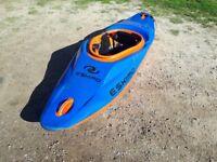 Eskimo kayak orange and blue