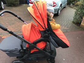 iCandy Orange Double/Twin used for 4 Months. Brand New seat unit/carrycot/