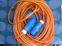 Electric hook-up for campervan/motorhome