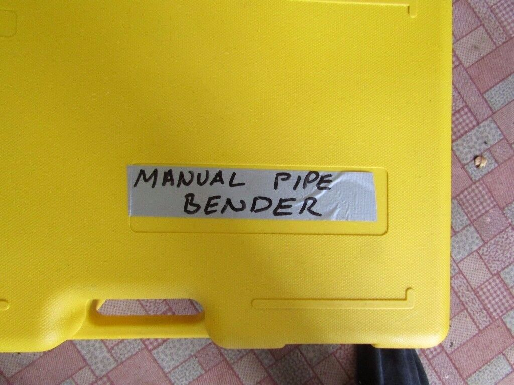 HEAVY DUTY PIPE BENDER AS NEW BEDFORD LOCATION IDEAL PLUMMER PIPE FITTER