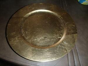 4 CHARGER PLATES AND NAPKIN RINGS-NEW!