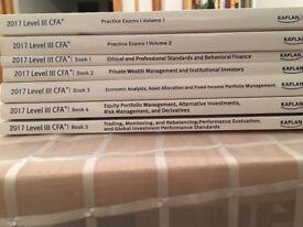 CFA level 3 Schweser books 2017 vol 1-5 and practice exams