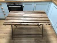 Outside garden wooden table - IKEA Askholmen - light brown