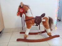 Rocking horse with a galloping and neigh neigh sound