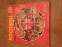 Football 78 Panini sticker book