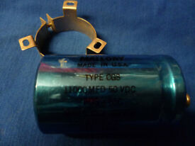 MALLORY ELECTROLYTIC CAN TYPE CAPACITOR 11000uf 50V WITH CLAMP