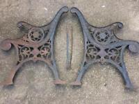Vintage & Ornate Cast Iron Bench Ends Or Chair Ends
