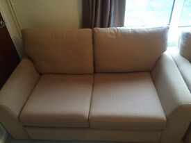 Sofa bed and matching armchair