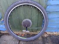 Bike wheel back 27.5 inches inc tyre