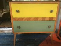Mid century painted chest