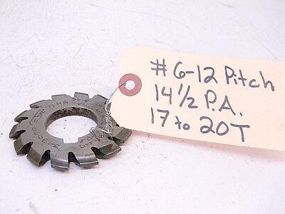 Used Itw Involute Gear Cutter 6-12p 14-12p.a. Df .180 17-20t Bore 1