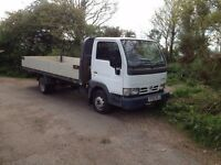 Nissan Cabstar rare extra long wheel base twin wheel. 3500kg also 3500kg towing