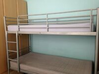 Solid , Silver bunk bed