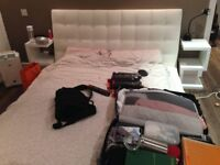 White modern double bed