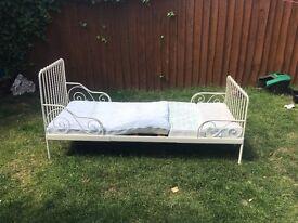 Kids white bed frame