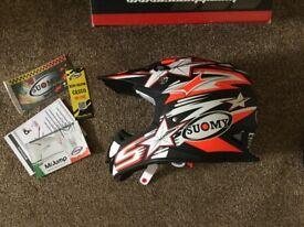Brand new in box. Suomy Mr. Jump Bullet. Medium. Matt Black. Motor cross / off-road helmet