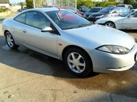 ford cougar 2.5 v6 silver breaking for parts car is driving 100%
