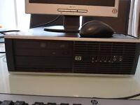 HP 8000 Desktop PC Computer Intel Core 2 Duo E8400 @ 3.00Ghz With 15 Inch Monitor