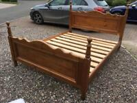 Bed - King Size Antique Pine