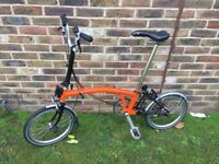 Brompton M3L Folding Bike (3 speed, excellent condition)