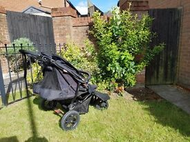 Out n About Little Nipper, double / twin Pushchair, black