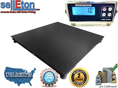 Industrial Warehouse Floor Scale Pallet Size 5000 Lbs X 1 Lb 40x40
