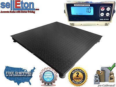 Op-916-b Industrial 5 X 5 60 X 60 Floor Scale Pallet 10000 Lbsx1lb