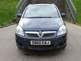 2010 60 VAUXHALL ZAFIRA 1.6 ENERGY 5d 113 BHP *1 OWNER FROM NEW*FULL SERVICE HISTORY