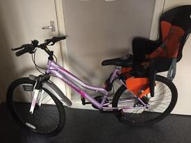 Woman's bike with child's seat