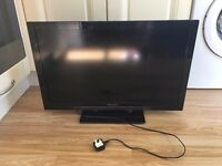 Panasonic 32 inch LED TV with remote. Full HD