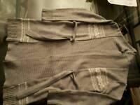 Grey wrap cardigan