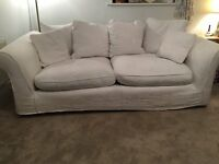 Cream sofa with removable covers